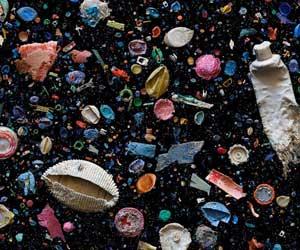 Műanyag hulladék a tengerparton